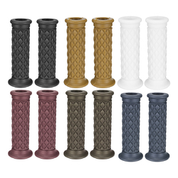 7/8inch Universal Motorcycle Cafe Racer Classic Rubber Handlebar Hand Grips Bar 1