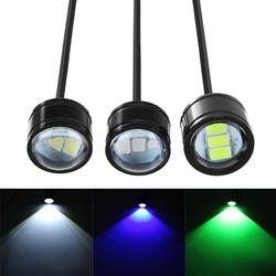12V Motorcycle Handlebar LED Headlights Running Spotlight Blue/Green/White 1