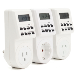 120V Digital Programmable 12/24 Hour Timer LCD Plug-in Wall Socket Switch Energy-saving 1