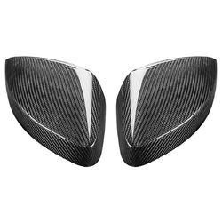 Real Carbon Fiber Side Car Mirror Replacement Caps Cover for AUDI A3 S3 RS3 1