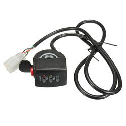 24/36/48V E-Bike Electric Car Throttle Engine 3 LED Indicator Display Button Switch 1