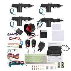 Remote Control Car Alarm System Keyless Entry Security 2 4 Door Power Lock Actuator Motor Kit 1