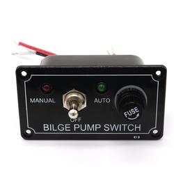 12V LED Indicator Bilge Pump Switch Panel Housing 3 Way Panel Manual / Off / Auto RV Marine Boat 1