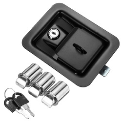 Paddle Door Lock Latch Cabinet Lock Handle With Keys Multiple for Truck Tool Box Trailer 1