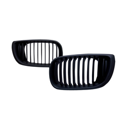Black Front Grille for 02-05 BMW E46 3 Series 4door 1