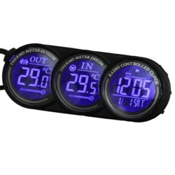 Blue LED Digital Car Inside Outside Thermometer Calendar Clock 1
