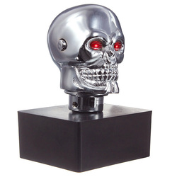 Car Chrome Skull Auto Manual Gear Stick Shift Knob Lever Universal 1