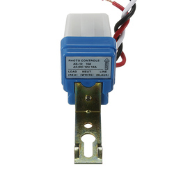 Photocell Street Light Switch Automatic Auto On Off AC DC 12V 50-60HZ 10A Photo Control Photoswitch Sensor Controller 1