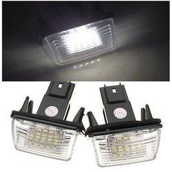 2PCS 18 LED SMD License Number Plate Light For Peugeot Citroen 1