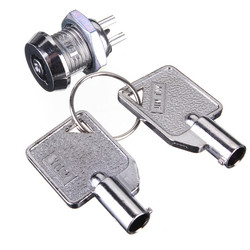 Key Operated Security Switch Single Pole Single Throw SPST 2 Position 1