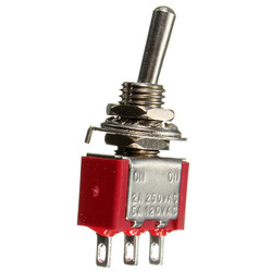 Red 3 Pin ON-ON SPDT Mini Toggle Switch AC 6A/125V 3A/250V 1