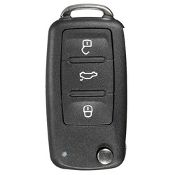 3 Button Remote Key FOB Shell Case+Uncut Blade For VW POlO 1