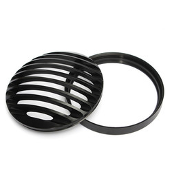 6inch Motorcycle Bullet Halogen Headlight Grill Cover Black CNC Aluminum For Harley 1
