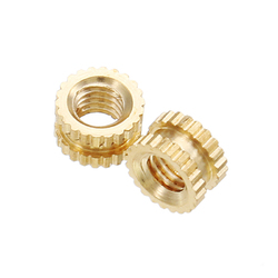 "Suleve?""? M3BN4 100pcs M3x3x5mm Metric Threaded Brass Knurl Round Insert Nuts 1"