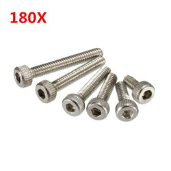 "Suleve?""? M2SS1 M2 Stainless Hex Socket Cap Head Screws Allen bolt Nut Assortment Kit 180pcs 1"