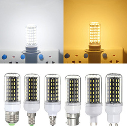 E27/E14/E12/B22/GU10 LED Bulb 6W SMD 4014 96 600LM Pure White/Warm White Corn Light Lamp AC 220V 1