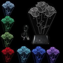LED 3D Night Light USB Creative Home Energy Saving Night Light Bedside Lamp 1
