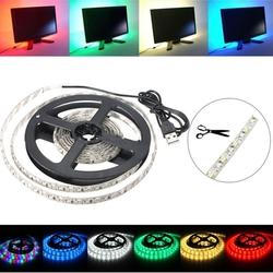 200CM 3528 120LED 9.6W USB LED Strip Light TV Background Lighting IP65 Kit 5V 1