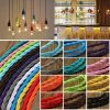 1m Vintage Colored DIY Twist Braided Fabric Flex Cable Wire Cord Electric Light Lamp 2