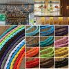 1m Vintage Colored DIY Twist Braided Fabric Flex Cable Wire Cord Electric Light Lamp 3