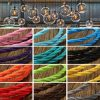1m Vintage Colored DIY Twist Braided Fabric Flex Cable Wire Cord Electric Light Lamp 5
