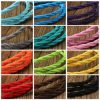 1m Vintage Colored DIY Twist Braided Fabric Flex Cable Wire Cord Electric Light Lamp 7