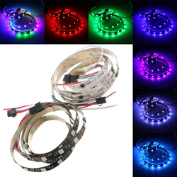 1M 9.6W DC 12V WS2811 48 SMD 5050 LED RGB Changeable Flexible Strip Light Individually addressable 1