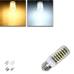 E27 E14 B22 G9 GU10 7W 64 SMD 5733 1000LM LED Warm White White Cover Corn Bulb AC 110V 1