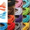 5m Vintage Colored DIY Twist Braided Fabric Flex Cable Wire Cord Electric Light Lamp 3