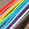 5m Vintage Colored DIY Twist Braided Fabric Flex Cable Wire Cord Electric Light Lamp 4