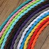 5m Vintage Colored DIY Twist Braided Fabric Flex Cable Wire Cord Electric Light Lamp 5