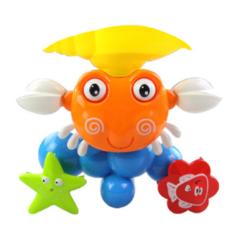 Baby Crab Windmills Bath Toy Faucet Plastic Wash Toys Spray Water Fun 1