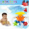 Baby Crab Windmills Bath Toy Faucet Plastic Wash Toys Spray Water Fun 2