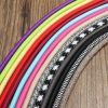 1M Vintage Colorful Twist Braided Fabric Cable Wire Electric Pendant Light Accessory 2