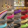 5M Vintage Colorful Twist Braided Fabric Cable Wire Electric Pendant Light Accessory 2