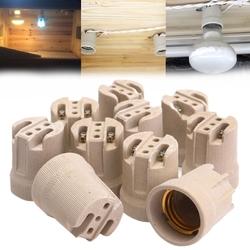 10x E27 Porcelain Ceramic Lamp Holder Socket For Vivarium Basking Heat Lamp 1