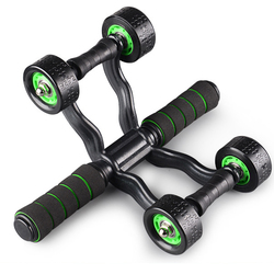 Sports Fitness Four-Wheels Power Roller Abdomen Exercise Wheels Equipment Muscle Strength Training 1