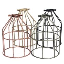 E27 Retro Metal Cage Lampshade Ceiling Pendant Light Lamp Bulb Holder Cafe Bar 1
