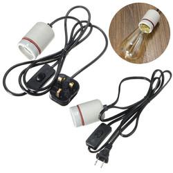 1.8M Reptile Ceramic Emitter Heating Lighting Lamp Bulb Holder Switch US/UK Plug 1
