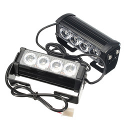 2PCS 12V LED Strobe Flash Lights Front Grille Warning Lamp Waterproof with 7 Flashing Modes Switch for Truck Lorry Trailer 1