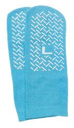 Slipper Socks; Large Sky Blue Pair Men's 7-9 Wms 8-10 1
