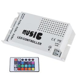 DC12-24V 24 Keys IR Wireless Sound Music RGB Controller for LED Strip Lighting 1