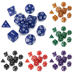 10pc/Set TRPG Games Gaming Dices D4-D30 Multi-sided Dices 6Color 1