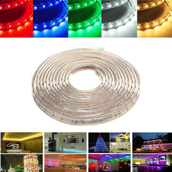 6M 21W Waterproof IP67 SMD 3528 360 LED Strip Rope Light Christmas Party Outdoor AC 220V 1
