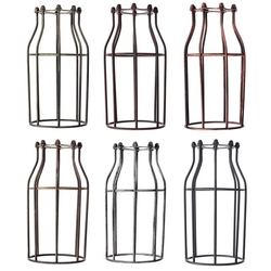 200MM DIY Vintage Pendant Trouble Light Bulb Guard Wire Cage Ceiling Hanging Lampshade 1