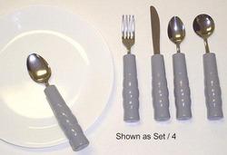 Weighted Utensils Set/3 Teaspoon Fork & Knife 1
