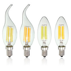 Dimmable E14 6W COB 600Lm Edison Filament Bulb LED Light Candle AC 110V 1