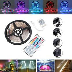 5M SMD 3528 RGB 300 LED Waterproof Strip Light For Xmas Holiday Decor Power Supply DC12V 1