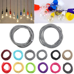 3M 2 Cord Color Vintage Twist Braided Fabric Light Cable Electric Wire 1
