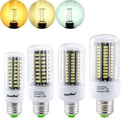 E27 E14 E12 E17 GU10 B22 LED Corn Bulb 7W 72 SMD 5736 LED Lamp Ampoule Led Light AC85-265V 1